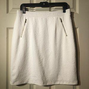 White Pencil Skirt - NWOT